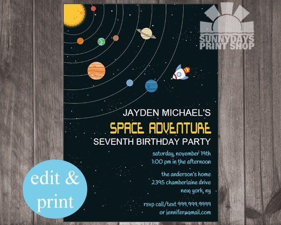 45 best logan 39 s outer space birthday party images on for Outer space travel