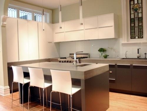 75 best images about kitchen renovation on pinterest for Concrete kitchen cabinets designs