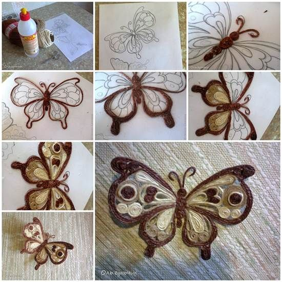 How to Make Beautiful Filigree Butterfly with Yarn | iCreativeIdeas.com Like Us on Facebook ==> https://www.facebook.com/icreativeideas