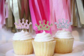 Блеск cowns диадемы кекс ботворезы свадебные душ день рождения чай ну вечеринку лечить еда поднимает украшения BT007