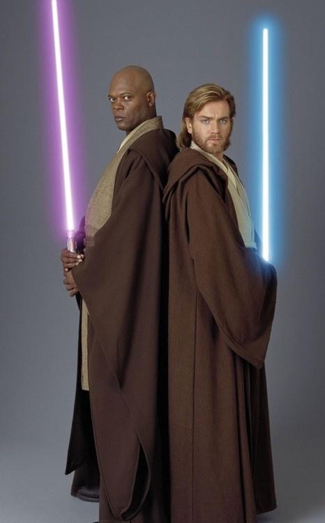 Mace Windu &  Obi-Wan Kenobi...I see your Schwartz is as big as mine