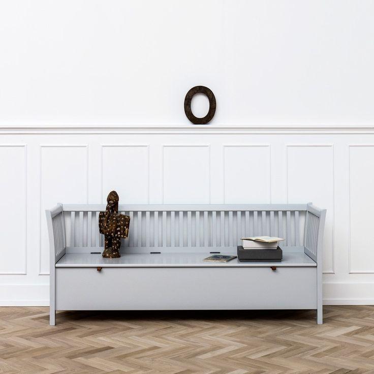 Kökssoffa grå slagbänk 194 cm, Oliver Furniture