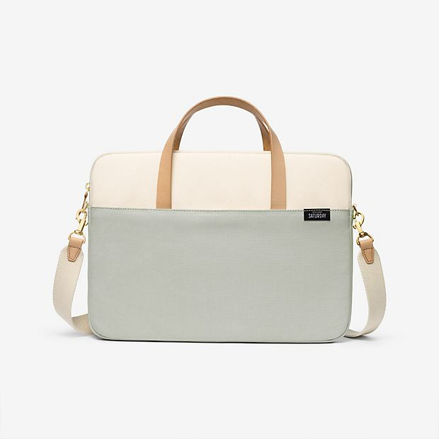 A great neutral laptop case to go with any look for work | Kate Spade Saturday