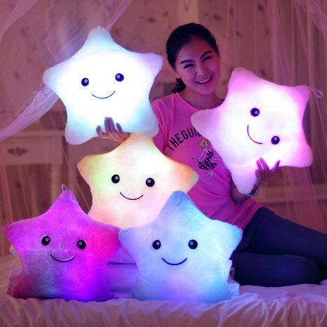free shipping colorful luminous pillow Flash lucky star pillow toys for children LED Light Pillow Party Birthday Gift kids Toys-in Stuffed & Plush Animals from Toys & Hobbies on Aliexpress.com | Alibaba Group