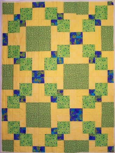 disappearing 4 patch quilt patterns | from Colorado Springs Quilt Guild }in this one not all 9 patches were cut