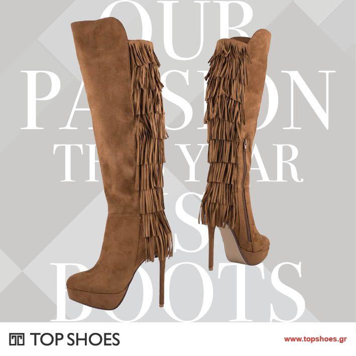 Τα 2 TOP trends του φετινού χειμώνα, οι μπότες πάνω από το γόνατο και τα κρόσια, σε έναν φανταστικό συνδυασμό! Για εμφανίσεις με απόλυτα θηλυκό attitude... απλά τολμήστε το!  Δείτε τη συλλογή μας εδώ: https://www.topshoes.gr/γυναικείες-…/γυναικείες-ψηλές-μπότες