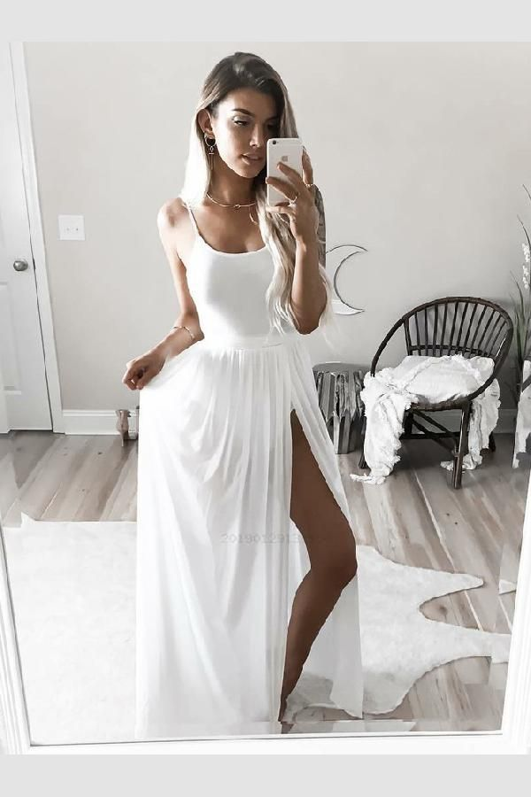 f9d6d335c984 Outlet Vogue White Prom Dresses, Prom Dresses A-Line, Chiffon Prom Dresses,  2019 Prom Dresses Chiffon Prom Dresses, Prom Dresses A-Line, Prom Dresses,  ...