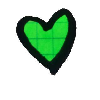 Inusual Creative hope heart green