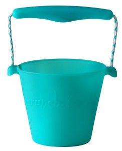 Funkit World - Scrunch-bucket Zwijane wiaderko silikonowe, Turkusowe