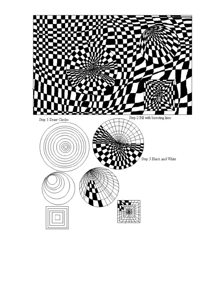 Checkerboard Op Art Lesson in conjunction with Bridget Riley  |Pinned from PinTo for iPad|