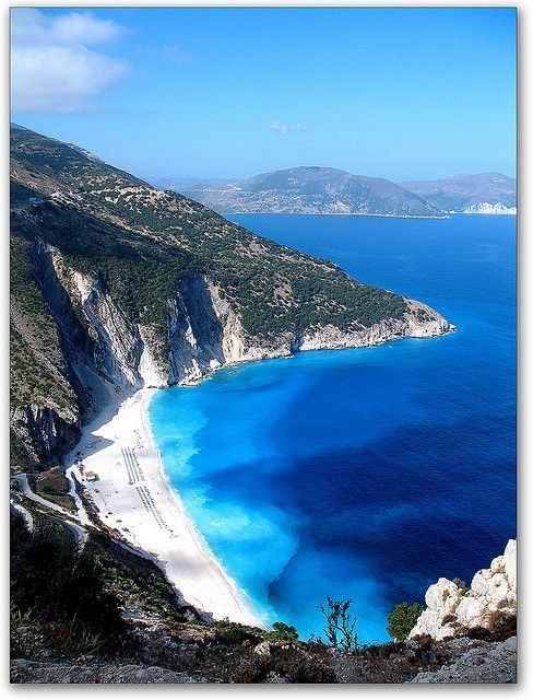 No clue where this place is, but it sure is breathtaking! :)     Mirtos Beach, Kefalonia