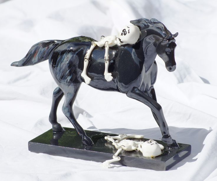 Trail of Painted Ponies (Artist Signed) Custom Horse - Halloween II