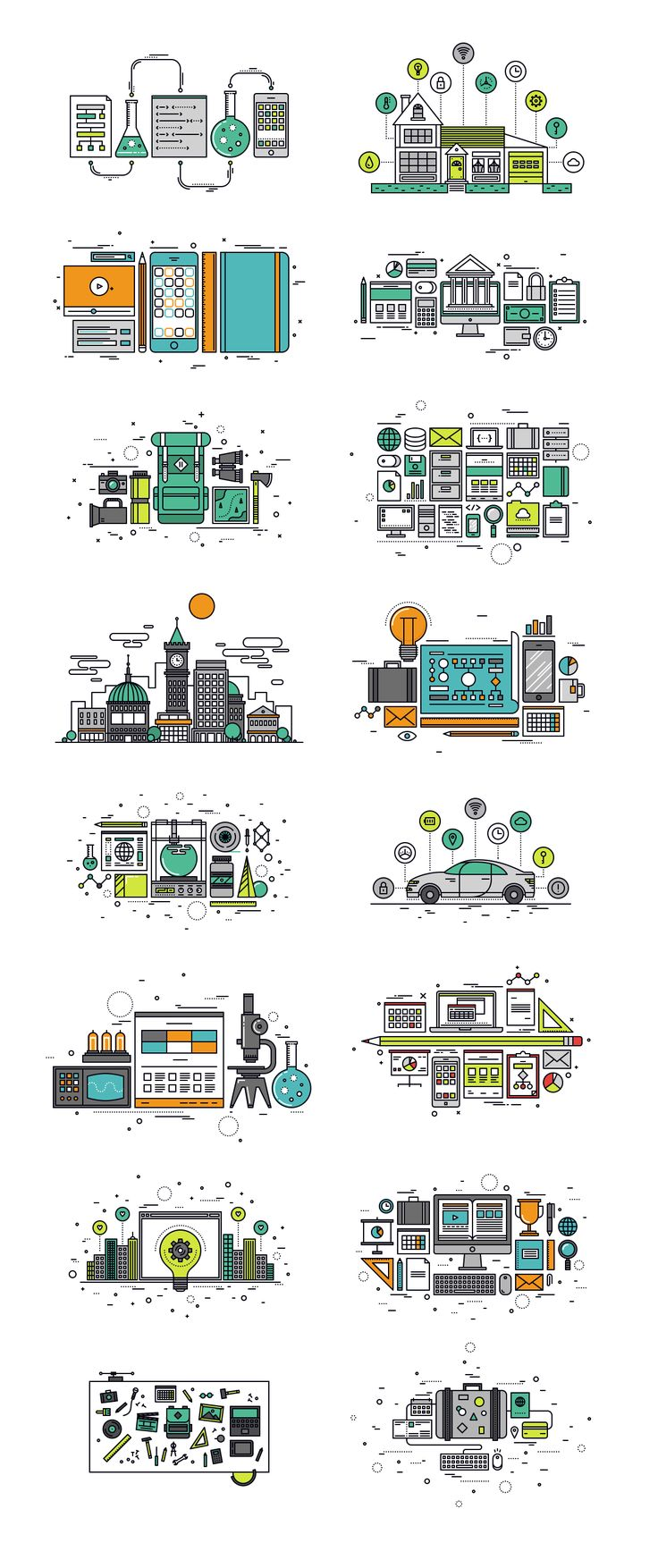Thinline Illustrations Collection by Bloomua on @creativemarket