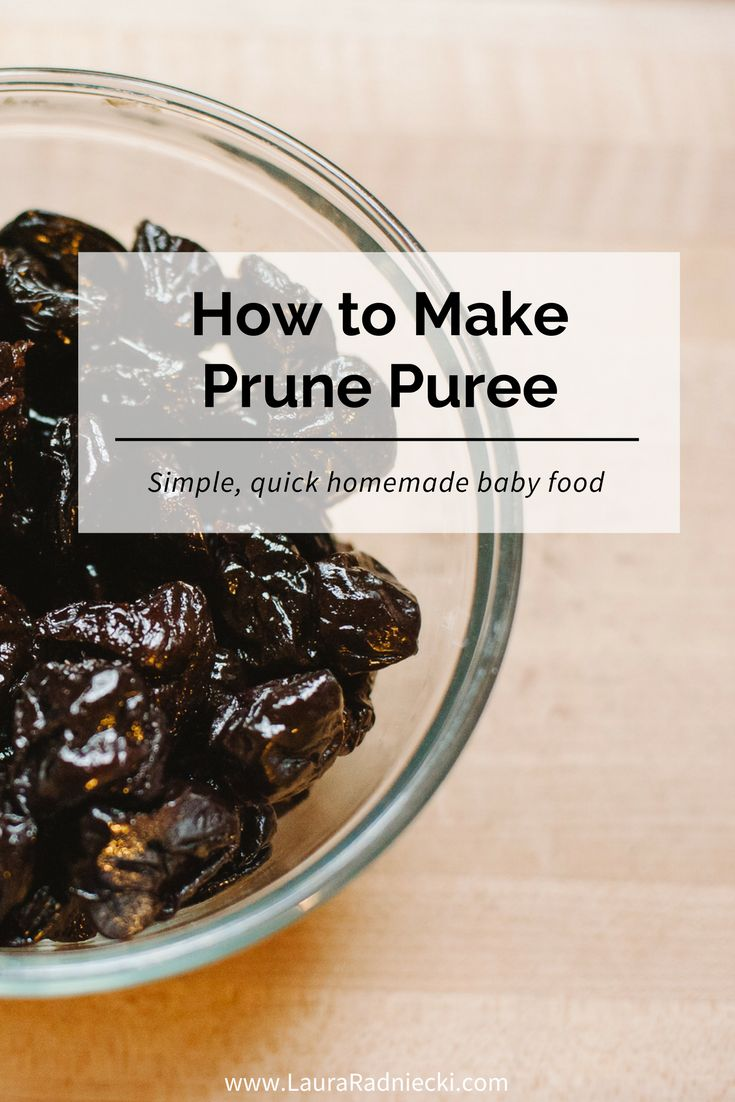 Looking for an easy homemade baby food recipe to fight constipation? Prune puree is simple to make and helps ease constipation naturally, keeping your baby regular!