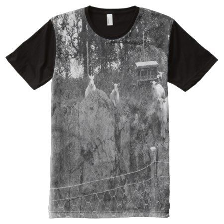 White and black sheep drawing effect All-Over-Print T-Shirt - tap to personalize and get yours