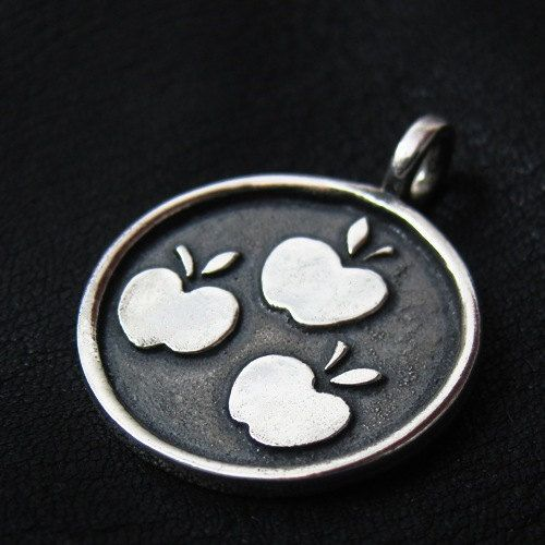 Silver Applejack pendant by TheSunkenCity on Etsy