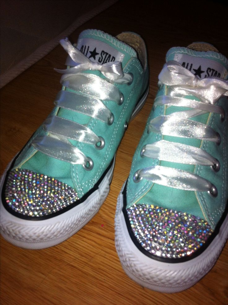 Blinged up Converse #diamante #DIY - credit for these goes to Alice Rocks :)