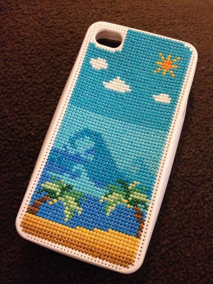Cross stitch I Phone cover