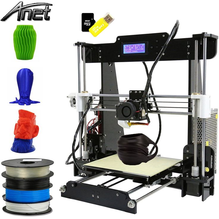 Anet A8 3D Drucker 3D Printer DIY i3 Upgradest High Precision Reprap Prusa LCD Bildschirm USB 8 GB SD Karte eins Extruder 3D-Drucker Kit Set   here you can find it:http://amzn.to/2ssSD6u