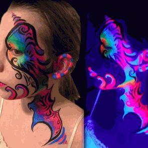 Black Light Reactive Face & Body Jumbo Makeup Sticks (Set of 6)