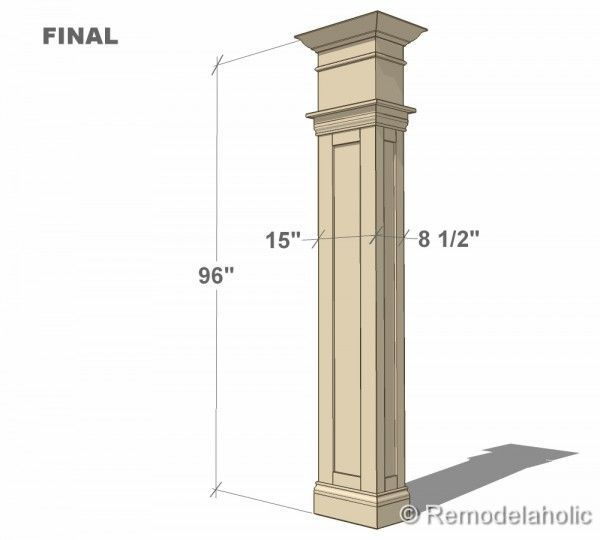 build a custom interior column with free plans from remodelaholic.com  #buildingplan @Remodelaholic