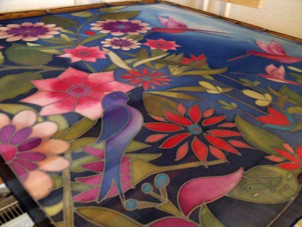 Acrylic Painting On Silk Fabric