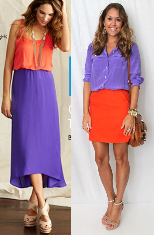 To make this outfit both Minnesota winter and my wardrobe compatible, use this as an inspiration for a cobalt blue sweater and orange corduroys.
