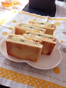 高野豆腐でハムタマサンド☆糖質制限