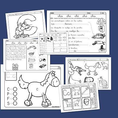 Fichas de lectoescritura con la letra C