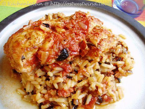 Slow Cooking: Hähnchen-Pilaf mit sonnengetrockneten Tomaten - kuechenlatein.com