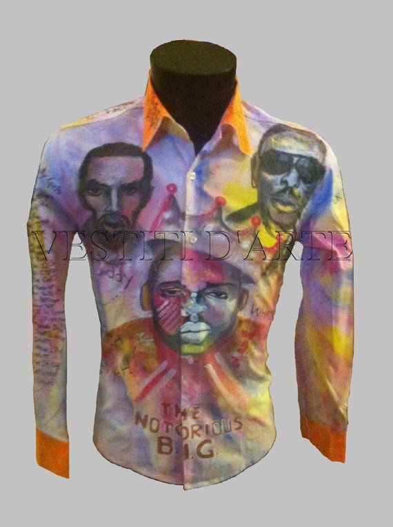 Band shirts notorious big tribute HAND PAINTED by Vestitidarte
