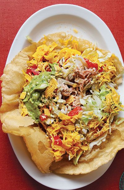 Puffy Chicken Tacos: Puffy Chicken, Taco Salad, Recipe, Chicken Tacos, Tacos Filled, Mexican Food, Spicy Chicken, Puffy Tacos, Indian Taco