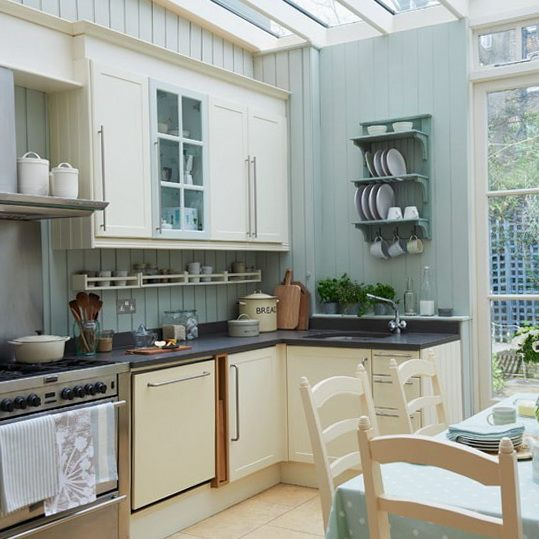 Google Image Result for http://homeklondike.com/wp-content/uploads/2012/04/2-decorating-ideas-for-classical-kitchen-Light-green-traditional-kitchen.jpg