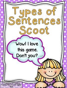 Scoot Game - Types of Sentences$