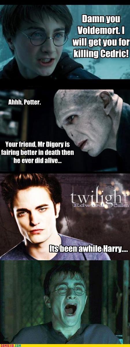 Harry Potter/Twilight the jokes are endless lol
