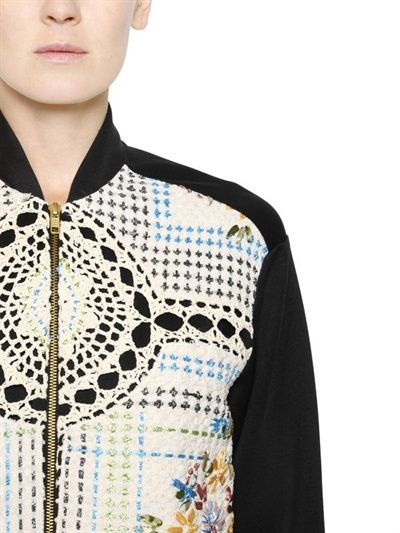 Moda em Crochê: Jaqueta Bomber de crochê Natargeorgiou. Crochet, bomber jacket