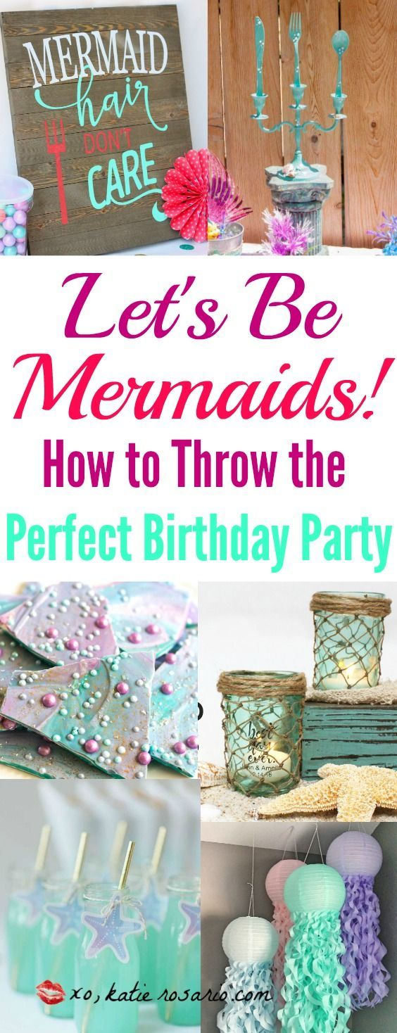 Who doesn't love mermaids?! This is genius! So perfect for kids birthday parties! Under the sea and the little mermaid as a party is awesome! So many DIY ideas that are easy and cheap. Which is even better since we done want to break our budgets throwing