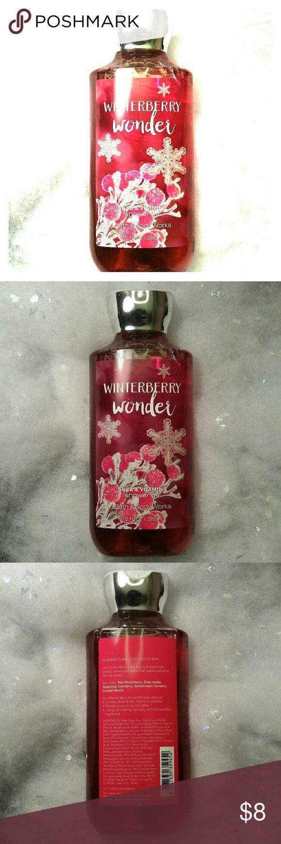 NWT BBW ❄️ Shower Gel ❄️ winterberry wonder NWT 10oz / 295ml Bath & Body Works winterberry wonder shea & Vitamin E shower gel. Never used. Bath & Body Works Other