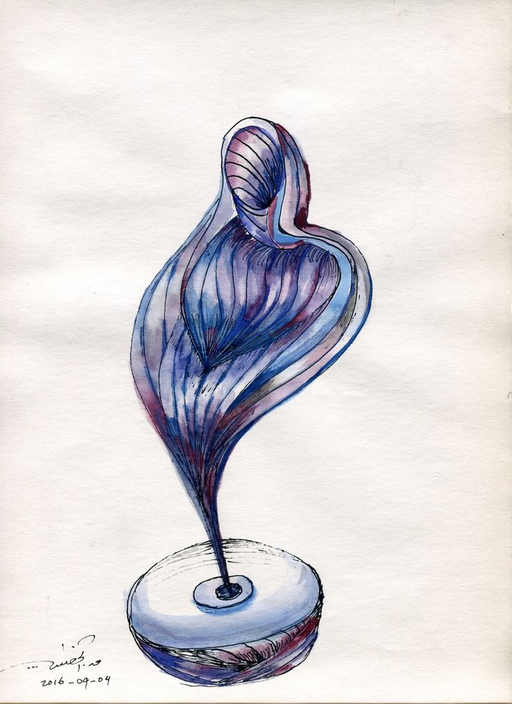 Woman. Water color & ink. qusay.alkhateeb.se