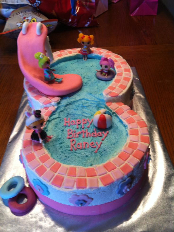 50 best images about zwembadtaarten on pinterest - Swimming pool birthday cake pictures ...
