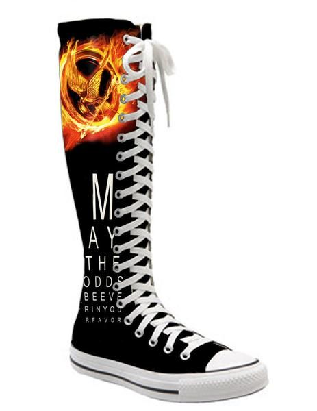 I found 'hunger games epic knee high converse' on Wish, check it out!