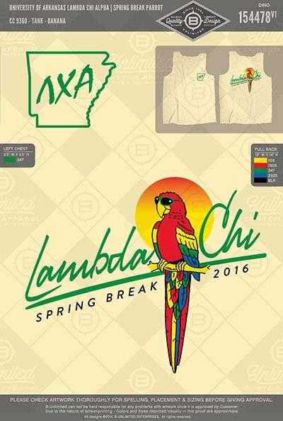 Lambda Chi Alpha Parrot Spring Break Shirt   #BUnlimited #BUonYOU…