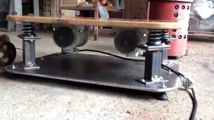 Plataforma vibratória em fase de teste.