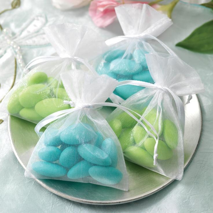 Organza Wedding Favor Bags | #exclusivelyweddings | #turquoisewedding