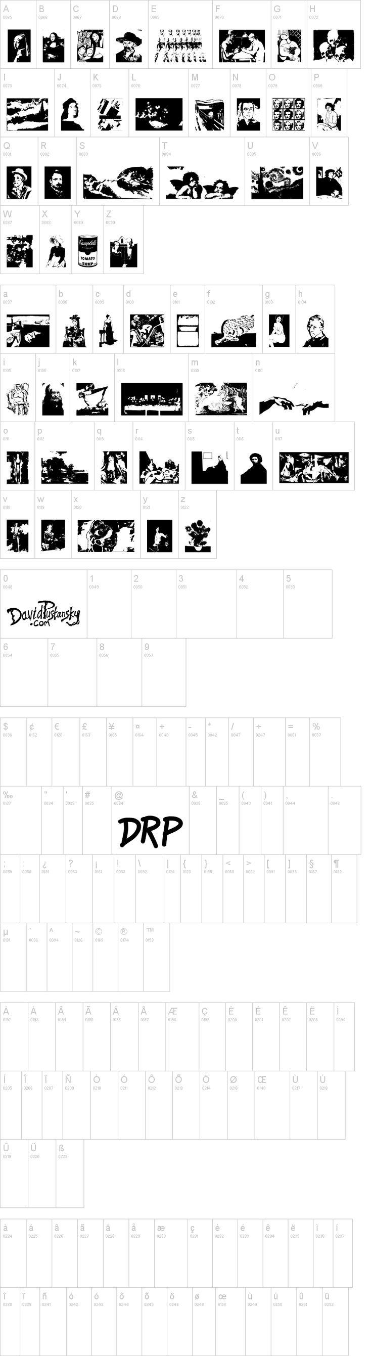 A Work Of Art free font - great font for crafts, journals, sketchbooks, etc.