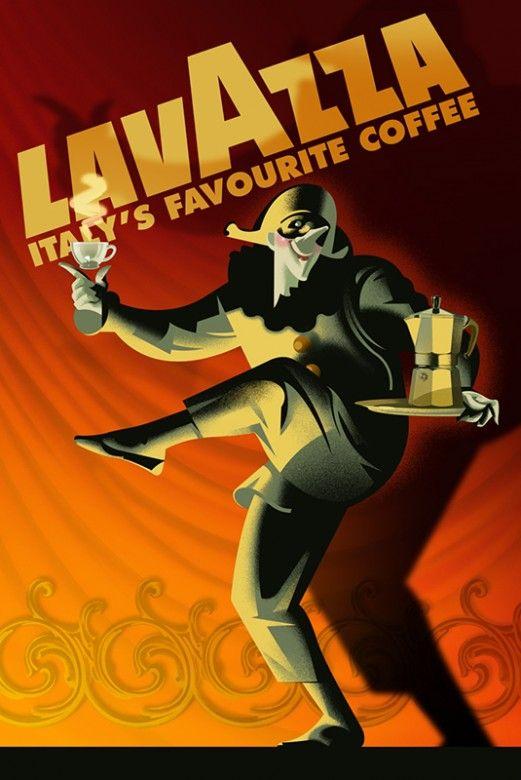 Vintage Italian Posters ~ #illustrator #Italian #posters #vintage ~ LavAzza Coffee Poster