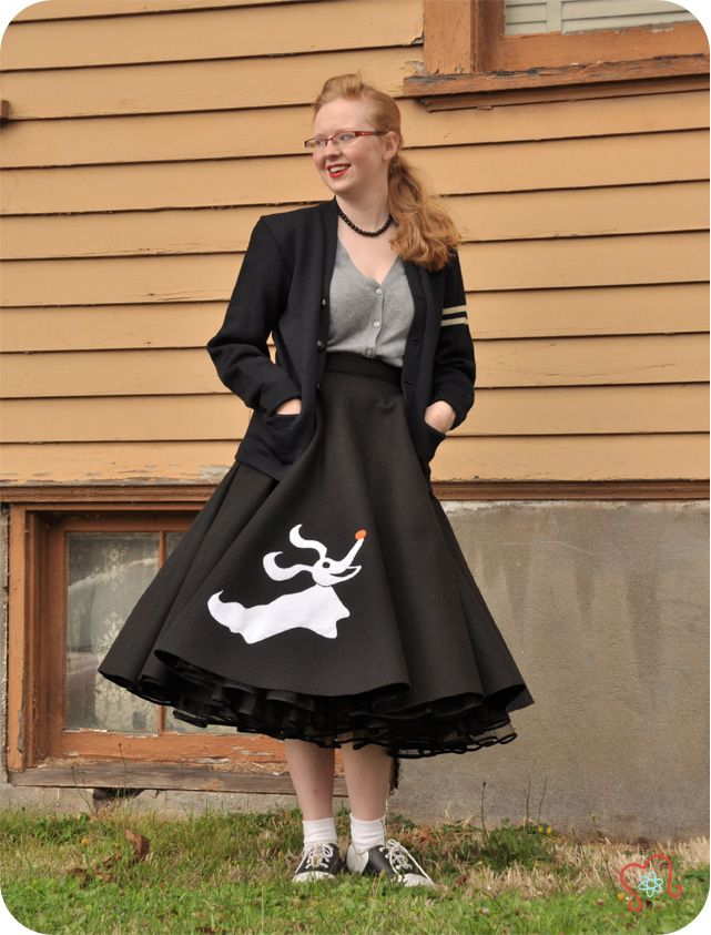 The Nightmare Before Christmas Zero Skirt - spin on classic poodle skirt - 50's Inspiration - Atomic Redhead
