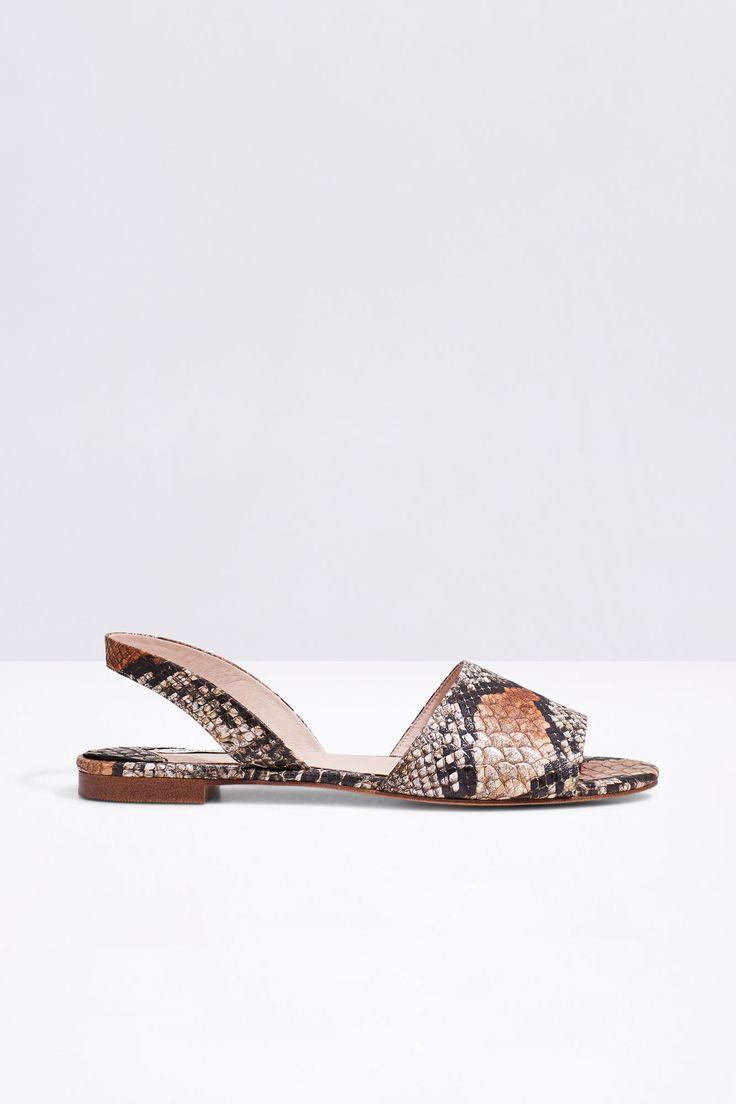 Sandalia serpiente   Zapatos   Cortefiel