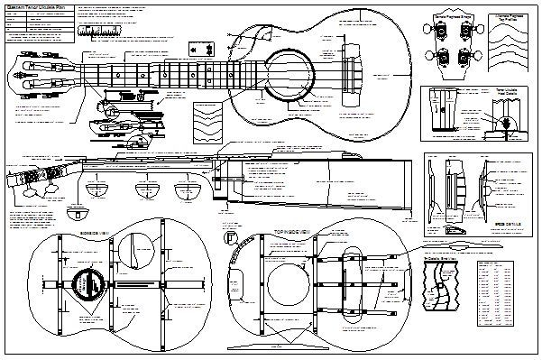 Bluestem Ukulele Plan And Notes Ukelele Ukulele