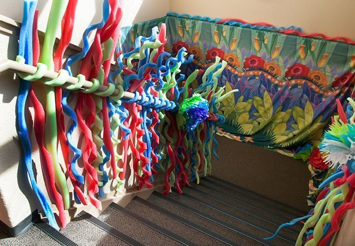 weird animals vbs decorating ideas | Weird Animals VBS 2014 Decorate with pool noodles. So cool! | VBS